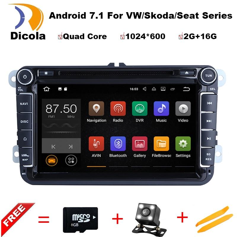1024 600 android 7 1 font b car b font dvd gps navigation for skoda VW