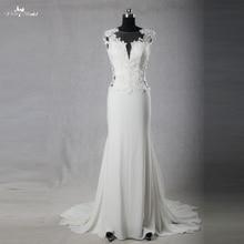 RSW1085 Real Pictures Yiaibridal Alibaba China Sexy Mermaid Lace Backless  Illusion Neckline Chiffon Wedding Dress( f4e48e8ba5db