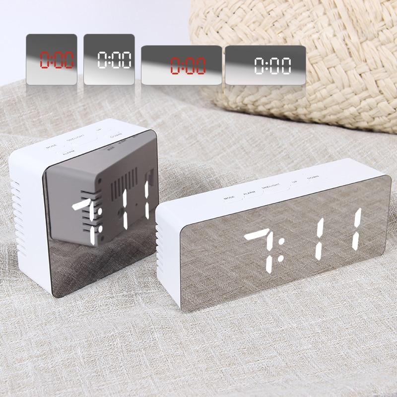 JULY'S canción Digital Reloj Despertador reloj Digital LED Snooze noche temperatura luces relojes de mesa USB Despertador Decoración