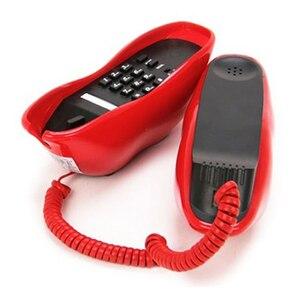 Image 3 - Yenilik seksi kırmızı ağız telefonu ruj tasarımı ile ev telefon kablosu