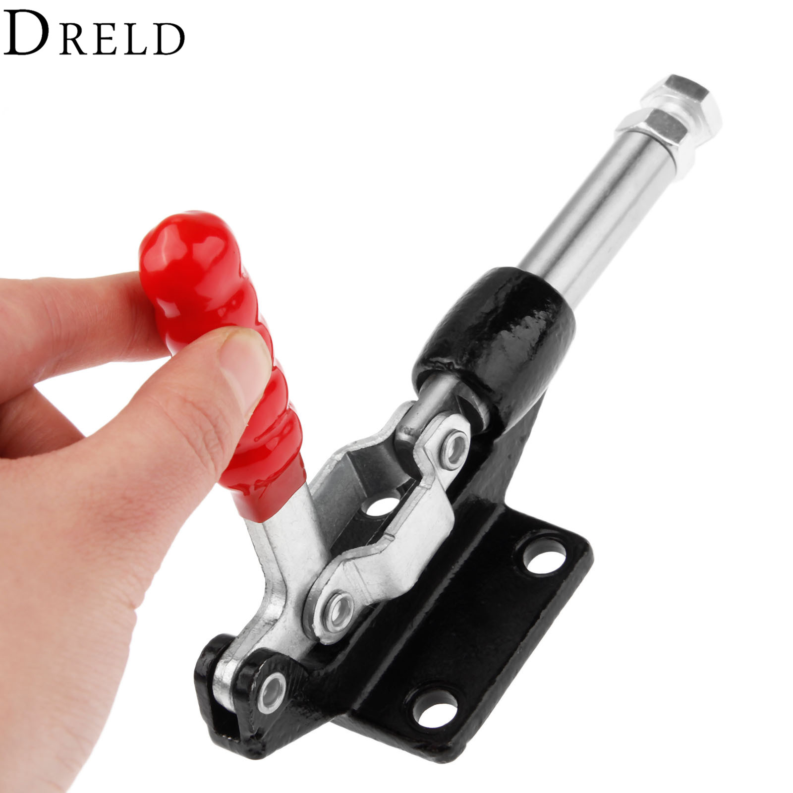 DRELD 1pc GH-305-EM Push Pull Toggle Clamp 42mm Plunger Stroke 386KG/850Lbs Holding Capacity Quick Hand Tool Fixture Clamp цена