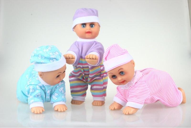 Funny Electric Crawling Music Baby Doll Crawl Learning Sötleksaker - Dockor och tillbehör - Foto 3