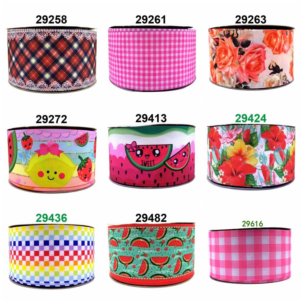 Free shipping 2019 new arrival ribbons Hair Accessories ribbon 10 yards  printed grosgrain ribbons 29616
