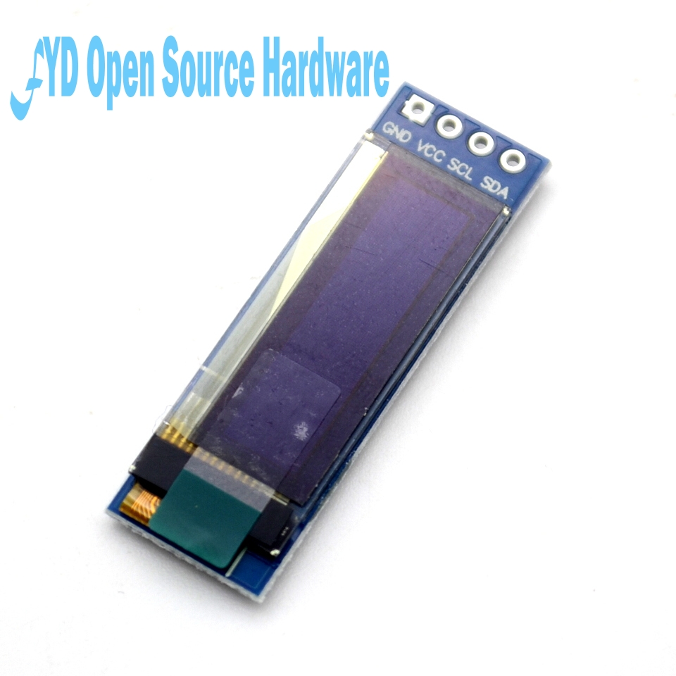 10pcs 0.91 Inch 128x32 I2C IIC Serial  OLED LCD Display Module For Arduino 0.91