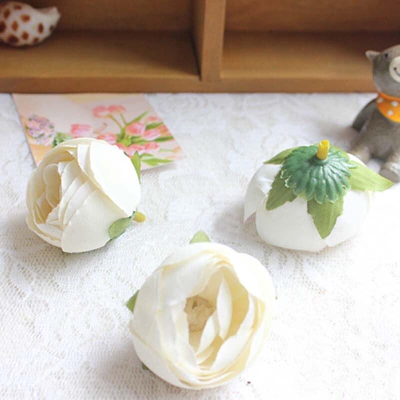 4CM Head,30PCS,10Colors Mini Roses Heads Artificial Silk Tea Rose Bud for Wrist Corsage Wedding Flower,Garland,Hair Clip,Bouquet
