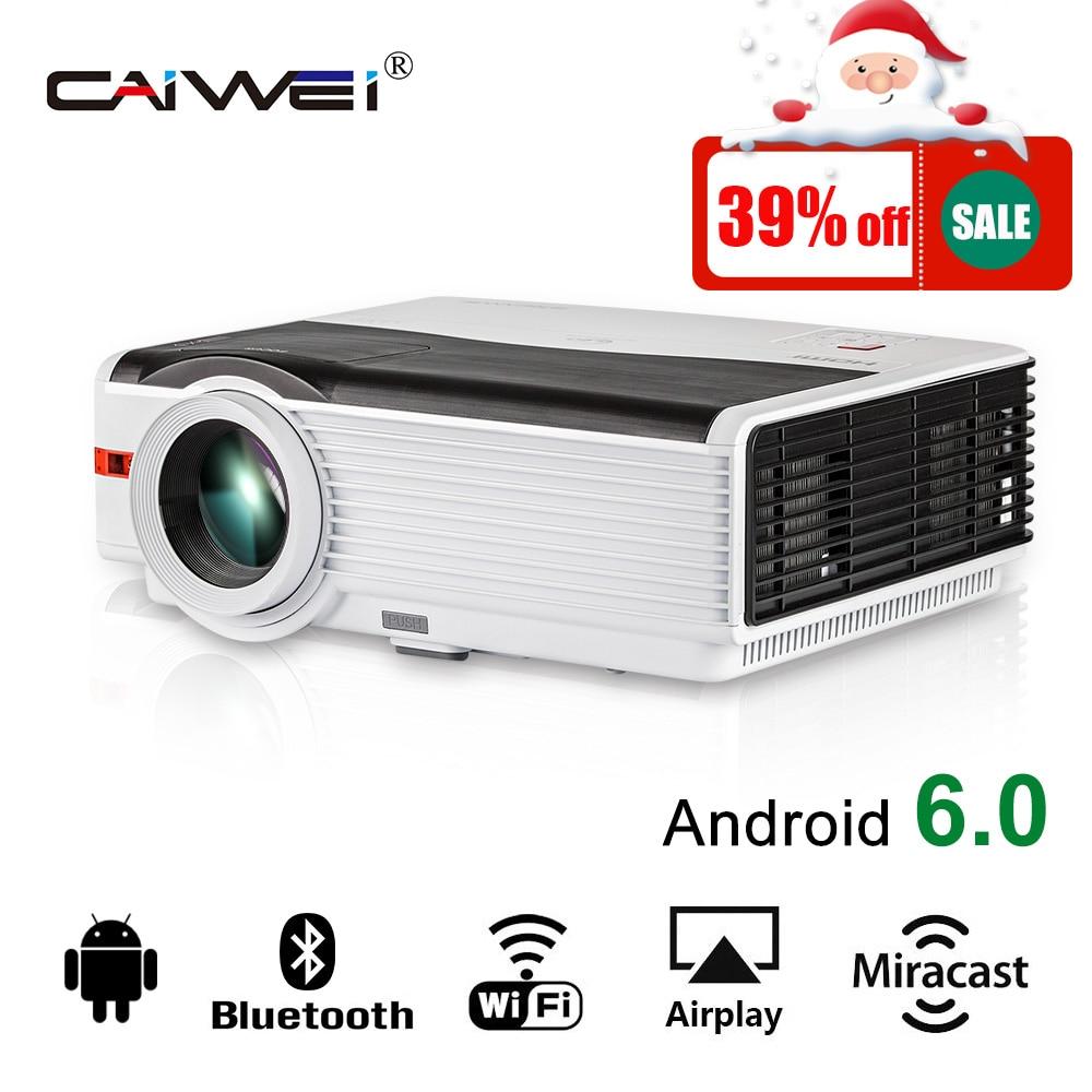 CAIWEI Android Bluetooth Wifi Proiettore LCD 1080 p HD Home Theater Video di Film Giochi LED Multimedia VGA USB HDMI 5000 lumen