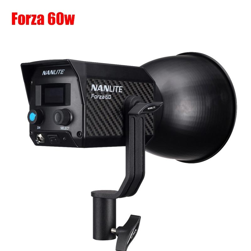 NANLITE Forza 60W 300W 5600K Photography Light Portable Outdoor LED Light Monolight COB Light With Bowens Mount