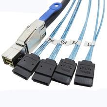 מיני sas צפיפות גבוהה SFF 8644 כדי 4SATA7P 12GB שרת כונן קשיח חיצוני כבל