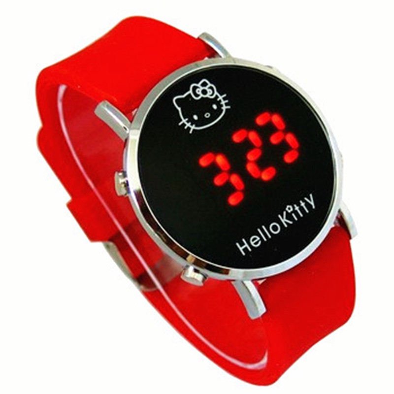 TMC#231New Fashion LED Digital Kids Watch Casual Sport Student Clocks Cute Cartoon Clock Hot Montre Enfant 2019