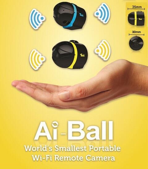 Free Shipping 2015 New Ai-ball World's Smallest Protable Wifi Mini Surveillance Camera IP Camera Wireless HD 640X480 рюкзак ai inverse still ans678 2015