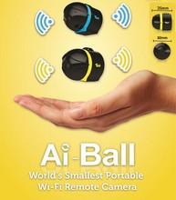 Бесплатная Доставка 2015 Новый ай-ball Самый Маленький в мире Переносной Wi-Fi Мини Камеры Наблюдения IP Беспроводной Камеры HD 640X480