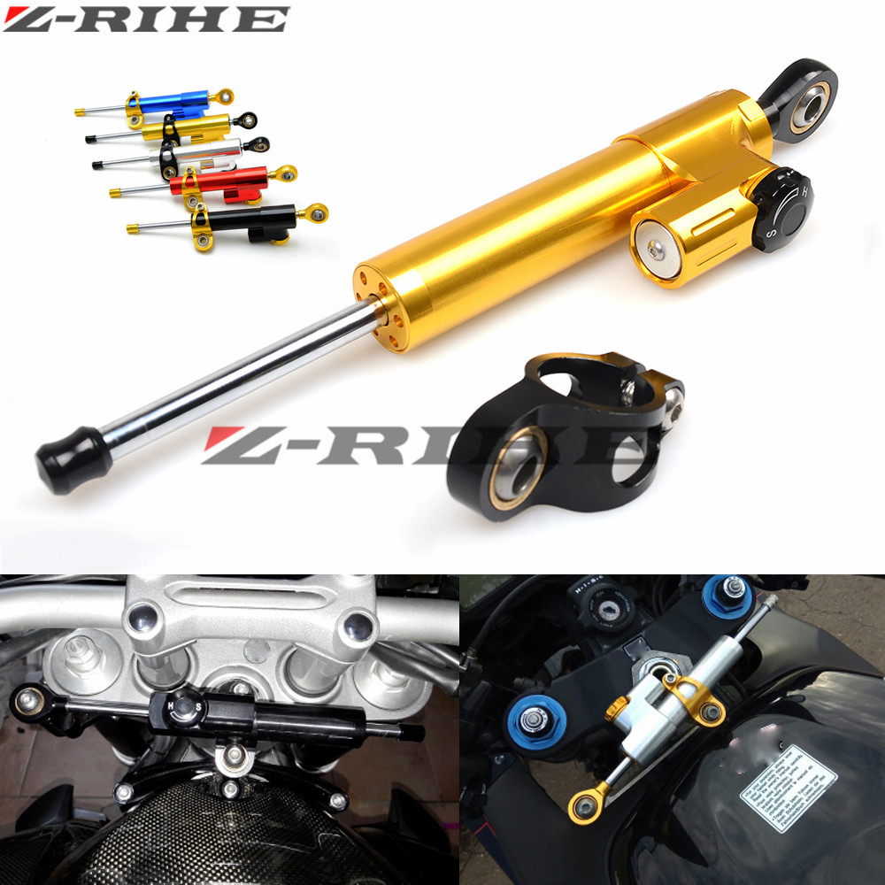 for MT07 MT09 MT 09 MT 07 CNC Damper Steering StabilizerLinear Reversed Safety Control Over Bike for KTM For Kawasaki Suzuki bmw gt motor motorcycle cnc steering damper stabilizerlinear reversed safety control with bracket for yamaha mt09 mt 09 fz 09 13 17