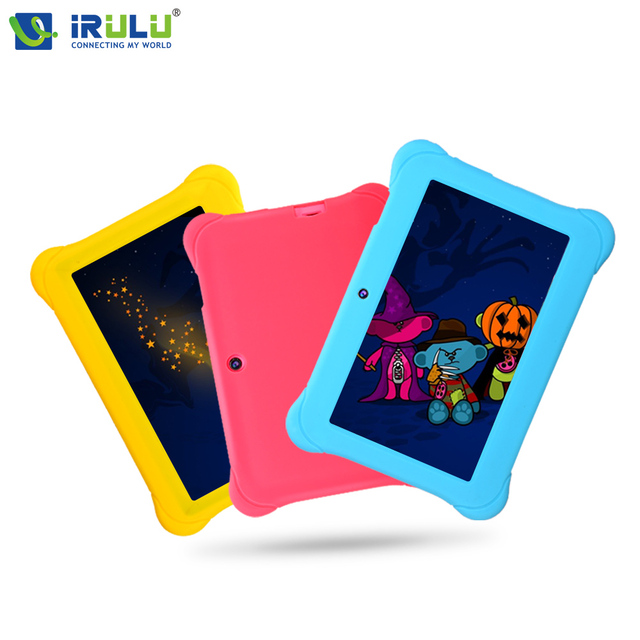 "iRULU Y1 7"" Quad Core Android BabyPad For Kids Education Tablet PC for Children Dual Cam 8GB Learn Grow Play With Case Gift Hot"