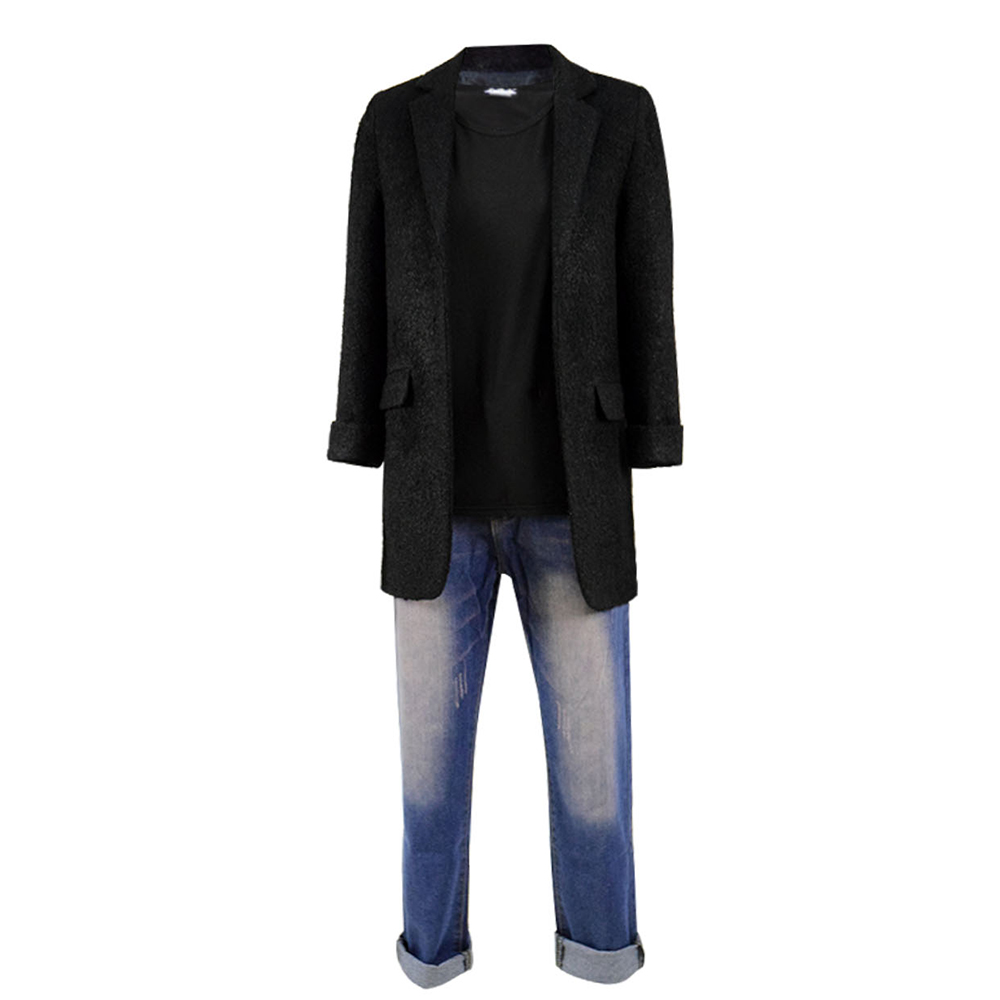 Stranger Things III Eleven Cosplay Costume Tshirt Jeans Jacket Coat Full Set Suit