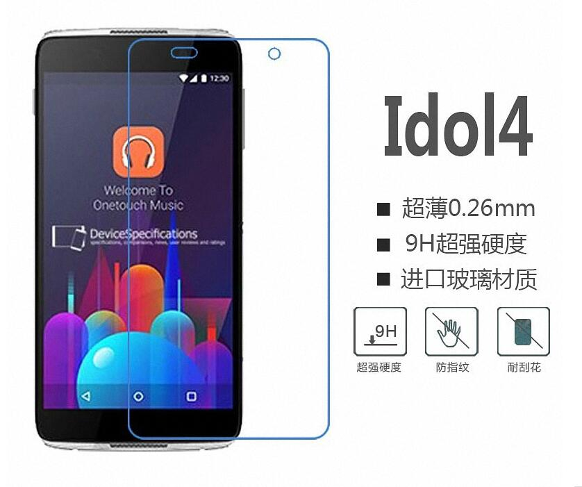 10Pack 2.5D 0.26mm 9H Premium Tempered Glass For <font><b>Alcatel</b></font> <font><b>idol</b></font> <font><b>4</b></font> Screen Protector Toughened protective film For <font><b>Alcatel</b></font> Idol4