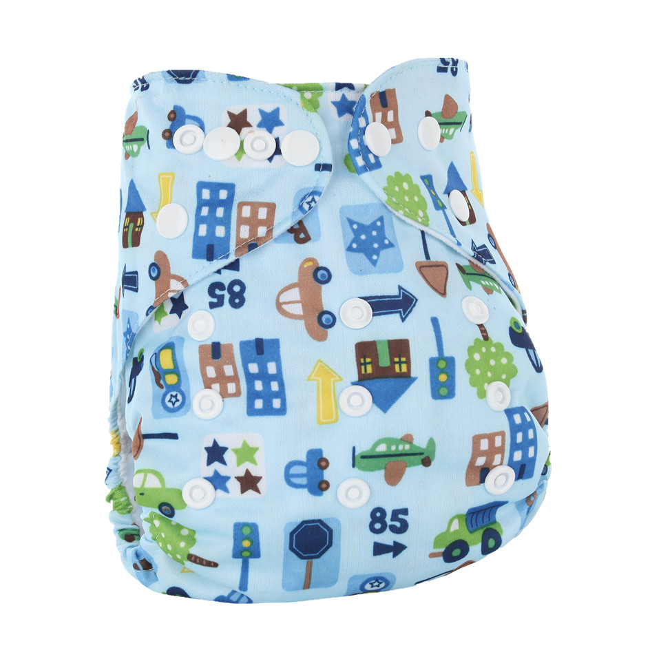 Washable Baby Cloth Diapers Baby Diaper Cover Wrap Cartoon