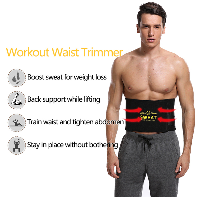 VASLANDA Men Neoprene Waist Trainer Corset Slimming Shaper Tummy Control Girdles Workout ABS Trimmer Fitness Sweat Belt 1