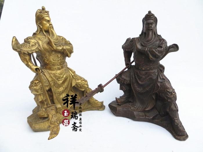 Feng Shui Guan Yi light copper font b knife b font Fortuna Wu Guan Home Furnishing