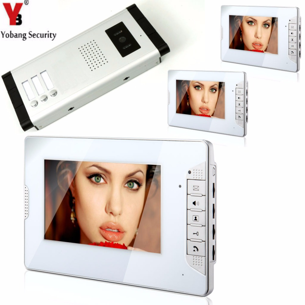 YobangSecurity 3 Units Apartment Video Door Intercom 7