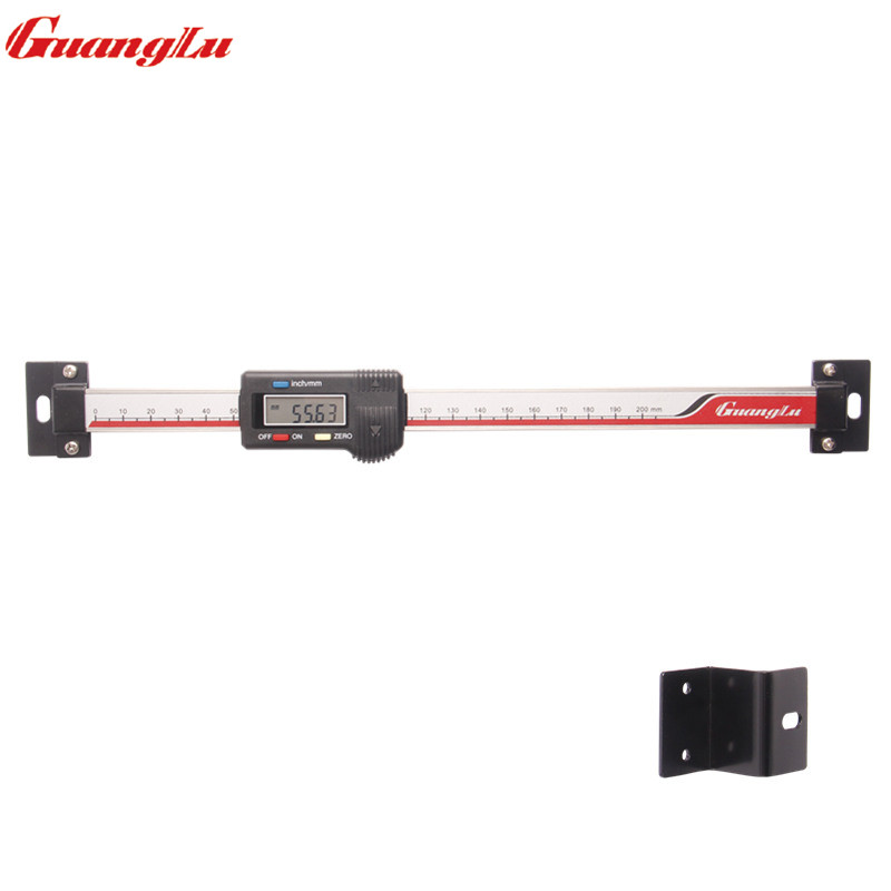 GUANGLU 0-200mm Digital Scale Unit Horizontal Type Stainless Steel LCD Display Inch/MM Machinist Tool
