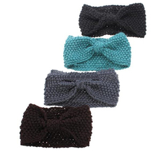 Hot Crochet Flower Bowknot Knitted Head Headband Headwear Hairband Ear Warmer Hair Muffs Band 5BT5 7G72