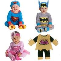 Superman Batman Infant Romper Baby Climbing Jumpsuit Baby Bodysuit Infantil Macacao Fantasia Superman Ou Batman Bebe