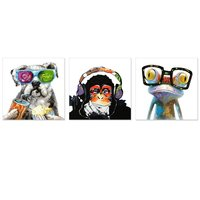 Animals Canvas Wall Art Modern Gorilla Monkey Music Oil Painting Wall Painting Happy Dog Frog Canvas