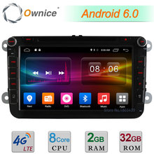 """2 GB RAM 32 GB ROM 8 """"Android 6.0 Octa Rdzeń 4G DAB Radio Odtwarzacz Samochodowy DVD Dla Volkswagen PASSAT CC Scirocco Golf Sharan Amarok Jetta"""