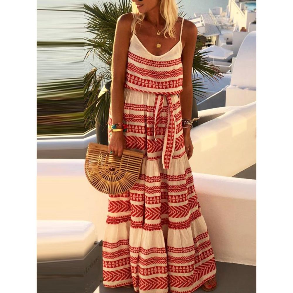 dea804dee149 Boho Dress Bohemian Chic Ladies Dresses Large Size 5XL White Summer Beach  Wear Maxi Dress Boho