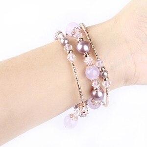 Image 2 - Bracelet Agate extensible pour femmes, pour Apple Bracelet de montre, pour iWatch Seies 1/2/3/4/5 44mm 42mm 40mm 38mm, boucle Bracelet de montre
