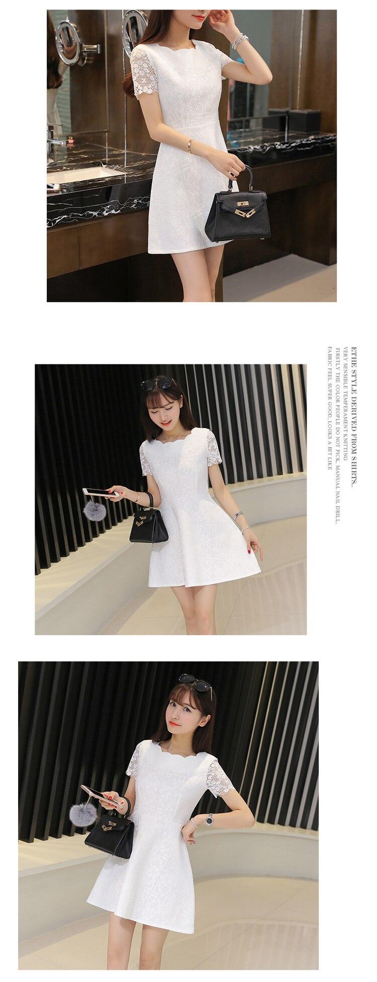 11cc8f544 √2018 damas bordado lindo encaje Plus tamaño vestido de mujer de ...