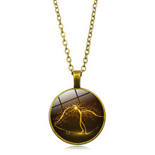Christmas Tree Time Crystal Necklace Vintage Alloy Pendant Necklace Long Sweater Chain недорого
