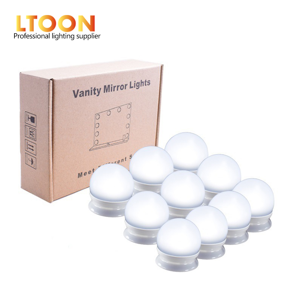 [LTOON]LED Vanity Mirror Lights Kit With Dimmable Light Bulbs,Lighting Fixture Strip For Makeup Vanity Table Set