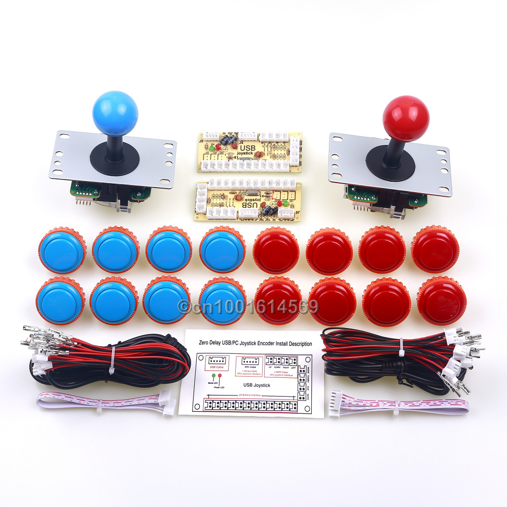 Arcade Control Panel DIY Arcade Sticks + USB Connector Encoder Board + Sanwa Push Button OBSN-30 Button For PC Game Controller sanwa button and joystick use in video game console with multi games 520 in 1