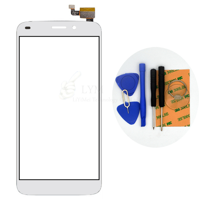 Branco TP para Oukitel U10 Digitador Da Tela de Toque Do Painel de Vidro Frontal Sensor No Telefone com Display LCD Substituir Parte Frete Grátis + ferramentas