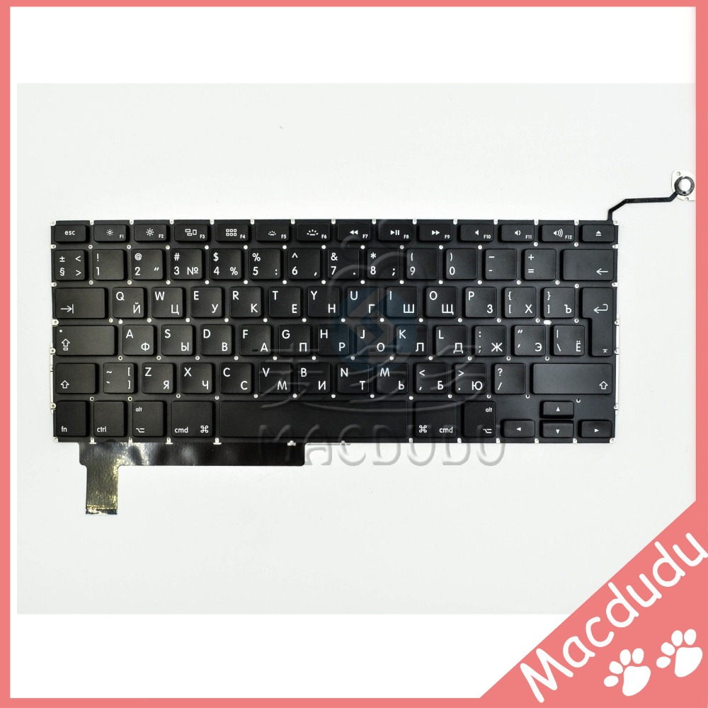 NEW Russian Keyboard for MacBook Pro 15 A1286 2009 2010 2011 2012 brand new azerty fr french keyboard backlight backlit 100pcs keyboard screws for macbook pro 15 4 a1286 2009 2012 years