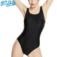 Panegy Women Waterproof One Piece Bikinis Quick Drying Fabric Swimsuit Sexy Sports Bathing Suit Shark Skin