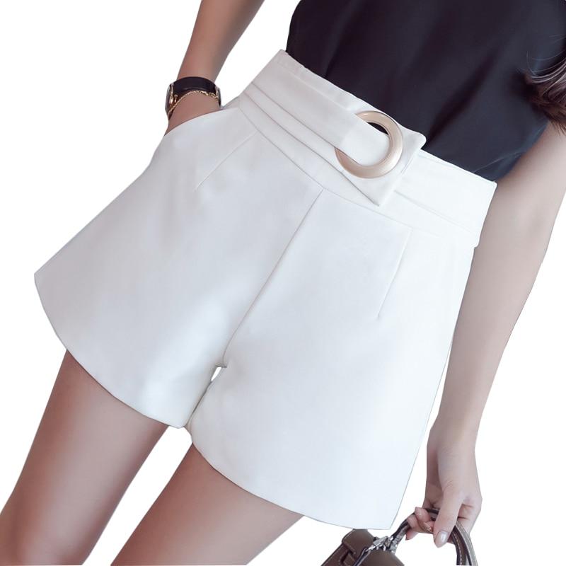 2019 Summer Wide Leg   Shorts   Women Fashion Casual   Short   Pants Women Sexy High Waist   Shorts   Solid Elegant Ladies   Short   Feminino