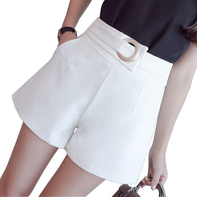 2020 קיץ רחב רגל מכנסיים קצרים נשים אופנה מזדמן קצר מכנסיים נשים סקסי גבוה מותן מוצק אלגנטי גבירותיי קצר Feminino