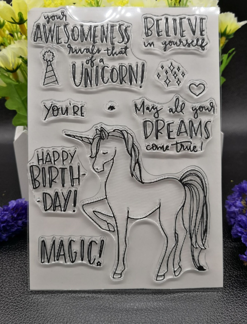 Unicorn Stamp Clear Stamp for Scrapbooking Transparent Silicone Rubber DIY Photo Album Decor 868