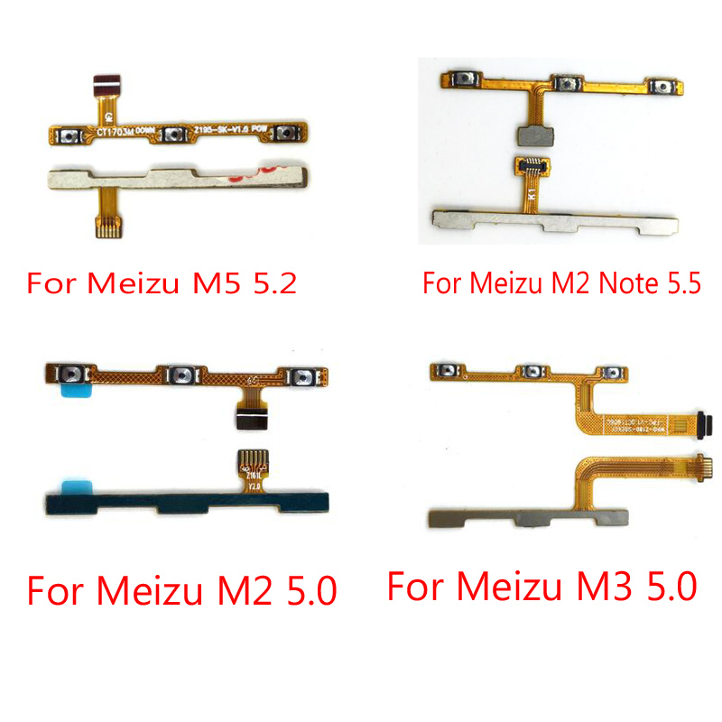 Original New For Meizu M2 M3 M3s M5 M5s M6 Note Side Power Volume Button Key Flex Cable High Quality