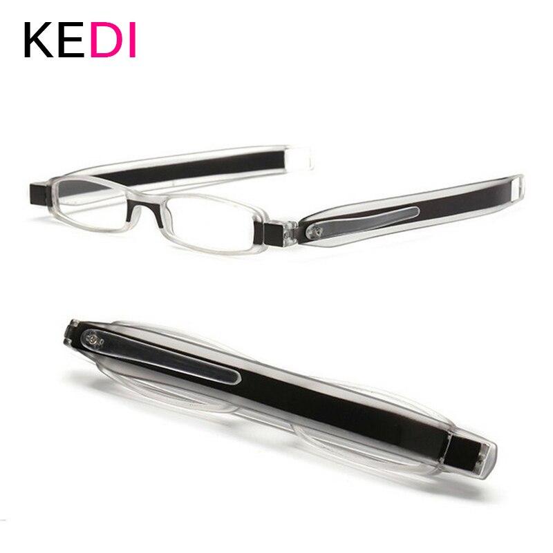 KEDI Fashion Reading Glasses US Patent, Mini Folding Pocket Reader,Foldable Light +1.0 to +3.0 Presbyopia Hyperopia Glasses