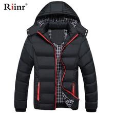 M-5XL Hooded Collar Men Winter Jacket 2019 New Fashion Warm Wool Liner Man Jacket and Coat Windproof