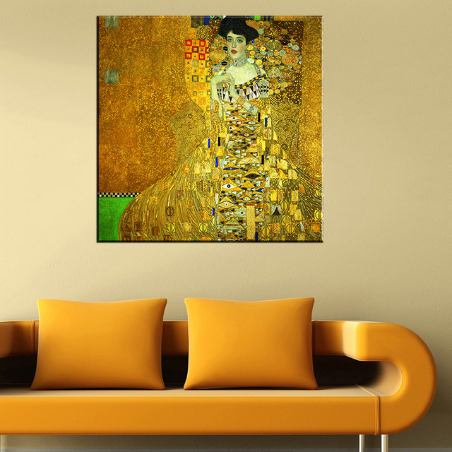 Paint Portrait of Adele Bloch Bauer I by Gustav Klimt wall painting ...