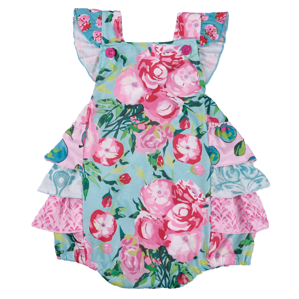 CONICE NINI Super Cute Wholesale Summer Infant Baby Sleeveless Baby Girls Clothes Ruffle   Romper   GPF806-149