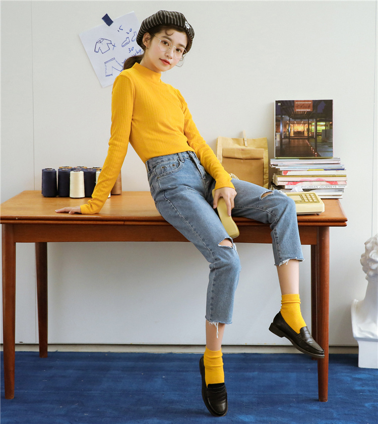 fb1b8fb8a6 Sueltos Primavera Moda Vintage Haram 2018 Crudo De Pengpious Denim  Dobladillo Jeans Pantalones xXqzW