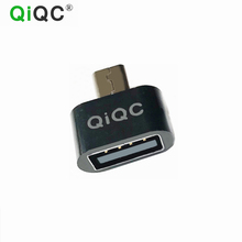 QiQC Mini OTG Cable USB OTG Adapter Micro USB to USB Converter for Android Tablet PC