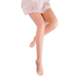 Image 1 - 100cm doux pied fétiche jouet demi corps réaliste sexe sexuel poupées jambe pour homme métal squelette buggerie vagin anal réel amour poupée
