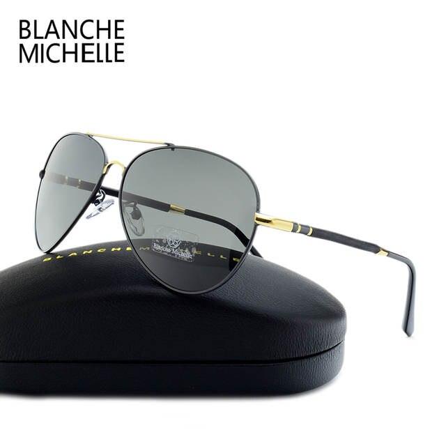 53e479309a 2018 High Quality Pilot Sunglasses Men Polarized UV400 Sunglass Brand  Designer Driving Sun Glasses For Man