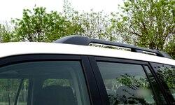 Dla Toyota Land Cruiser Prado FJ150 2010 2011 2012 2013 2015 2016 2017 2018 relingi dachowe Rack bagażnik bary akcesoria samochodowe w Chromowane wykończenia od Samochody i motocykle na